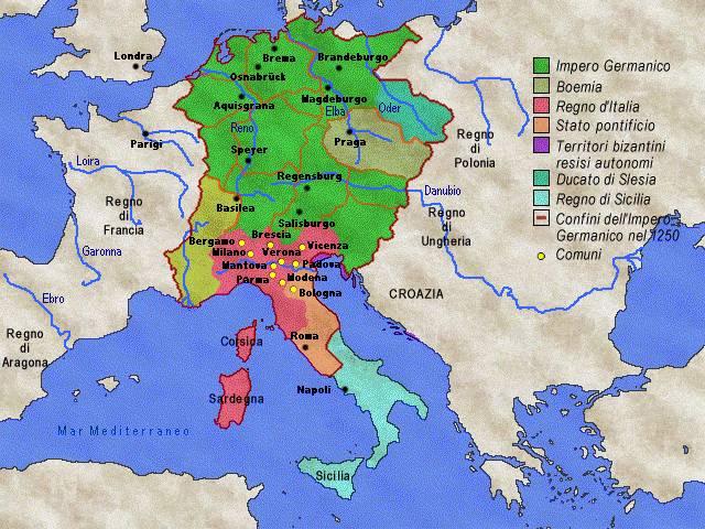 Cartina Italia Nel 400.La Nascita E Lo Sviluppo Dei Comuni